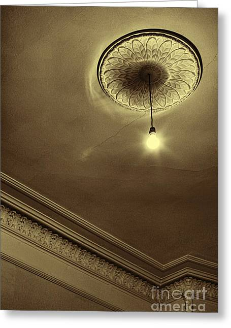 Ambience Greeting Cards - Ceiling Light Greeting Card by Craig B