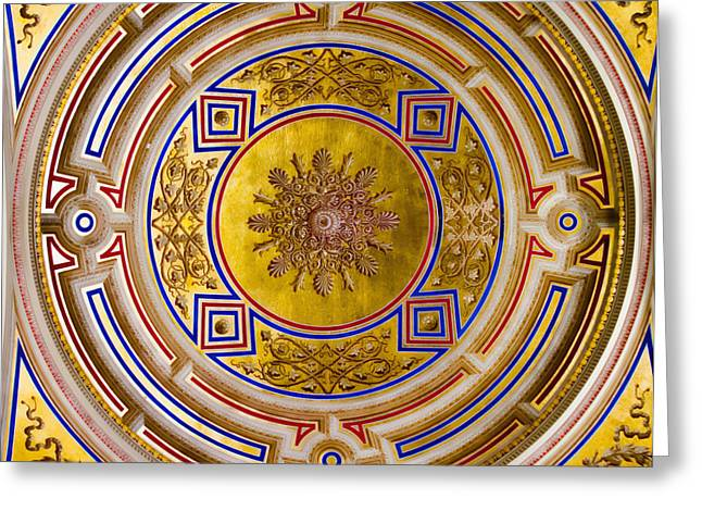 Symphony Hall Greeting Cards - Ceiling - Vienna Concert Hall Greeting Card by Jon Berghoff