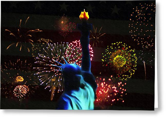 Celebrate America Greeting Card by Bill Cannon