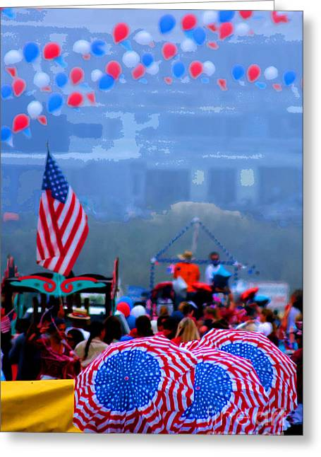 4th July Greeting Cards - Celebrate America Greeting Card by Tap  On Photo
