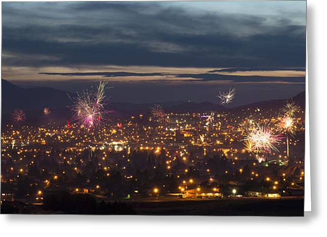 4th July Photographs Greeting Cards - Celebrate Butte  Greeting Card by Scott Wheeler