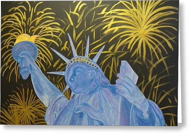 4th July Paintings Greeting Cards - Celebrate Freedom Greeting Card by Cheryl Lynn Looker