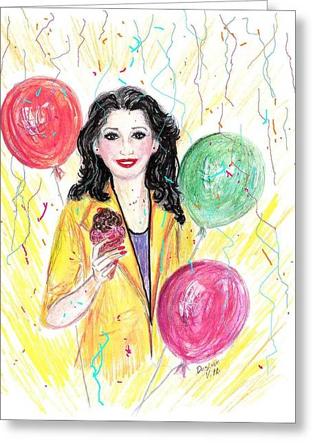 Red Lips Pastels Greeting Cards - Celebrate Life Greeting Card by Desline Vitto