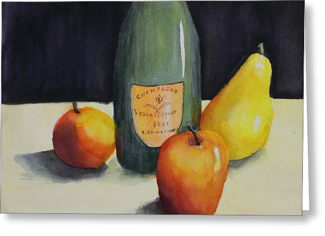 Fruit And Wine Greeting Cards - Celebrate Greeting Card by Maria Hunt