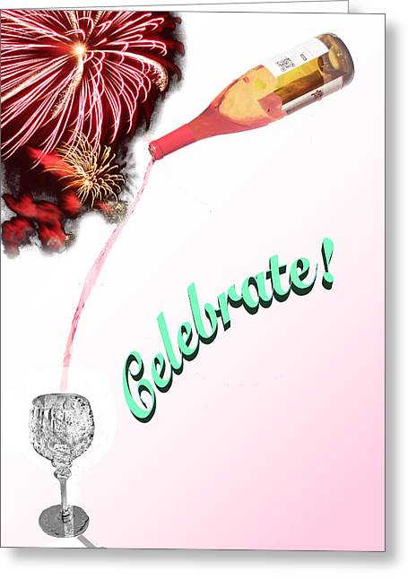 Wine Pour Greeting Cards - Celebrate Greeting Card by Michael Garcia