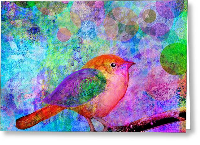 Digital Collage Greeting Cards - Celebrate Greeting Card by Robin Mead