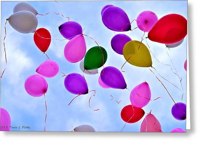 Helium Greeting Cards - Celebrate Greeting Card by Tara Potts