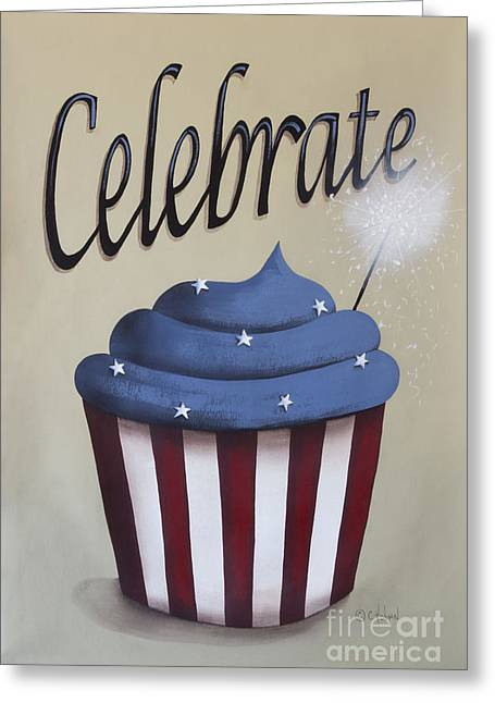 4th July Paintings Greeting Cards - Celebrate the 4th of July Greeting Card by Catherine Holman