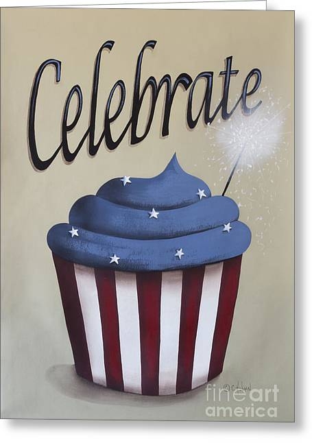 Independence Day Paintings Greeting Cards - Celebrate the 4th of July Greeting Card by Catherine Holman