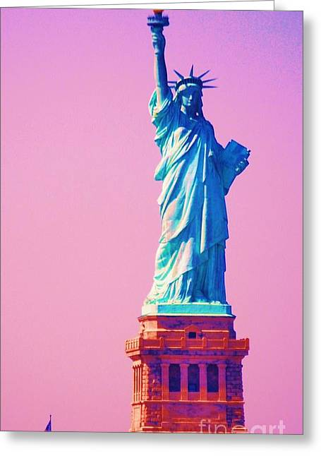 4th July Greeting Cards - Celebrating Liberty 3 Greeting Card by Marcus Dagan