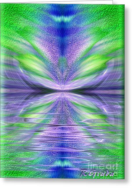 Law Of Attraction Greeting Cards - Celebrating life - abstract spiritual art by Giada Rossi Greeting Card by Giada Rossi