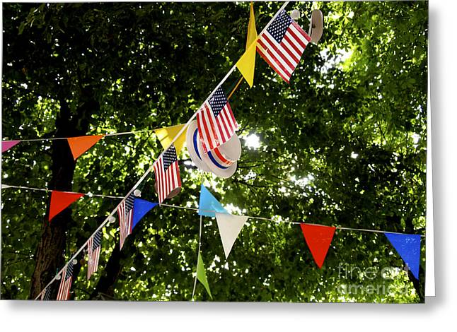 Flag Colors Greeting Cards - Celebration Greeting Card by Bernard Jaubert