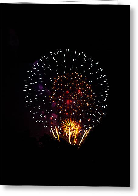 4th July Greeting Cards - Celebration Fireworks Greeting Card by Shelby  Young