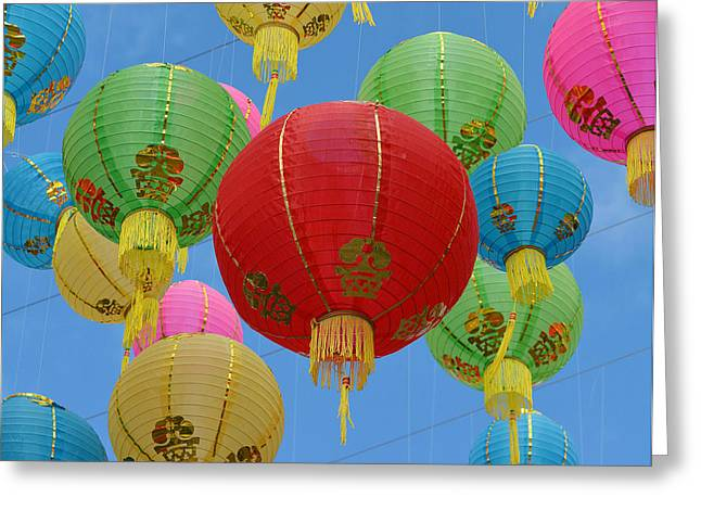 Chinese New Year Greeting Cards - Celebration In The Sky 10 Greeting Card by Fraida Gutovich