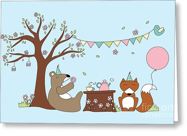Celebration Greeting Card by Kathrin Legg