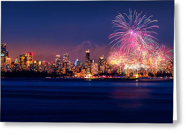 Celebration Of Light 2014 - Day 2 - France Greeting Card by Alexis Birkill