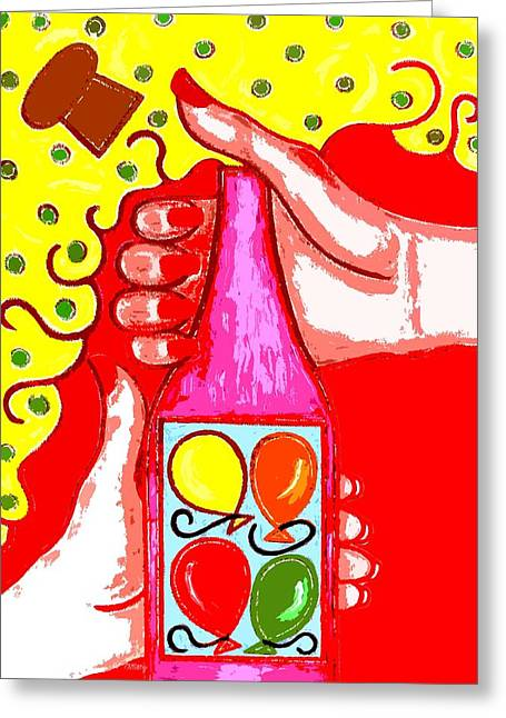 Fizzing Greeting Cards - Celebration Greeting Card by Patrick J Murphy