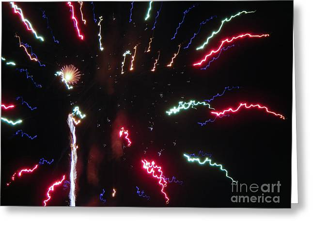 Pyrotechnics Greeting Cards - Celebration Greeting Card by Terry Weaver
