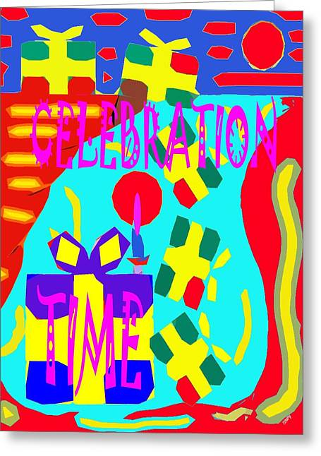 T Shirts Mixed Media Greeting Cards - Celebration Time Greeting Card by Patrick J Murphy