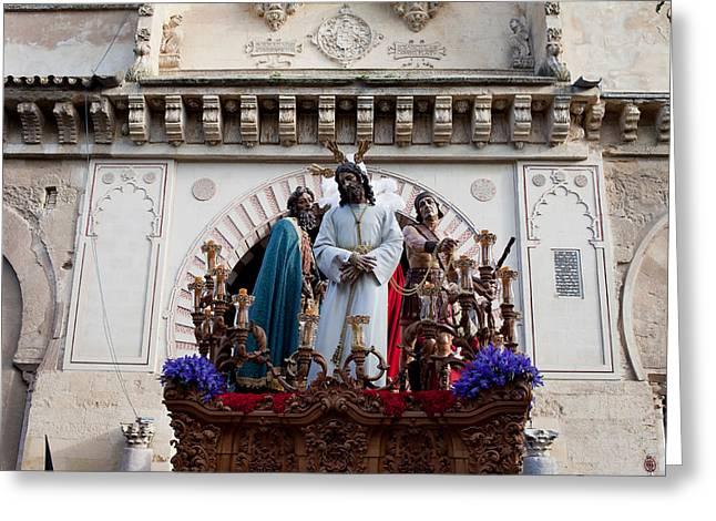 Celebrations on Palm Sunday in Cordoba Greeting Card by Artur Bogacki