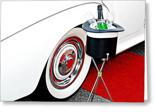 Limo Greeting Cards - Celebratory Greeting Card by Diana Angstadt