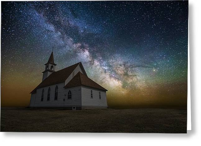 Rift Greeting Cards - Celestial Greeting Card by Aaron J Groen
