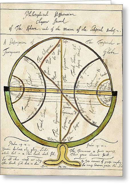 Celestial Globe Greeting Card by American Philosophical Society