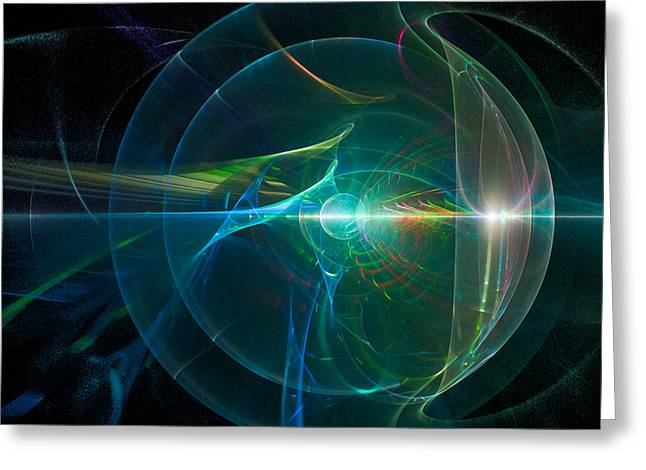 Fractal Orbs Greeting Cards - Celestial II  Greeting Card by Ronda Broatch
