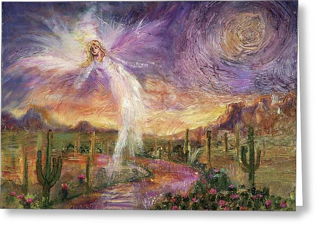 Personal Unconscious Greeting Cards - Celestial Messenger Greeting Card by Shari Silvey