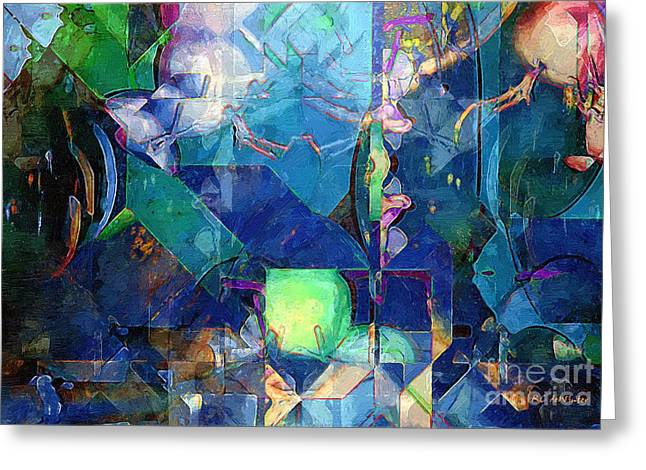 Celestial Sea Greeting Card by RC DeWinter