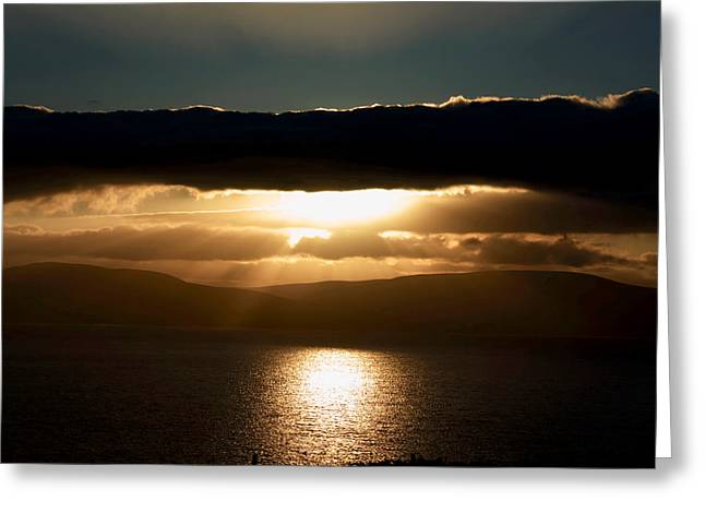 Sunset Prints Of Ireland Greeting Cards - Celestial Sky  Greeting Card by Aidan Moran