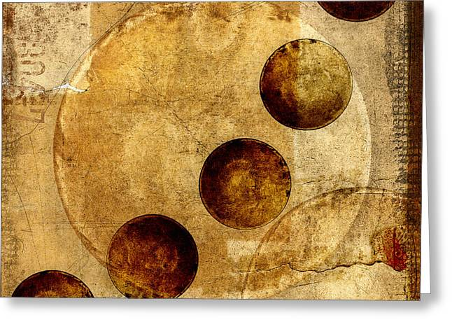 Mysterious Digital Greeting Cards - Celestial Spheres Greeting Card by Carol Leigh