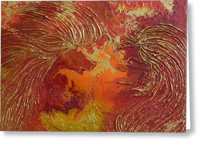 Winged Reliefs Greeting Cards - Celestial Wings Greeting Card by Liza Wheeler
