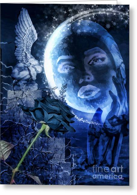 Celestine Greeting Card by Mo T