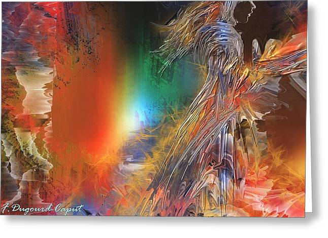 Abstract Digital Paintings Greeting Cards - Celidor Greeting Card by Francoise Dugourd-Caput