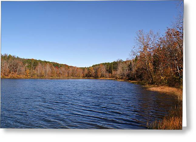 Indiana Autumn Greeting Cards - Celina Lake Greeting Card by Sandy Keeton