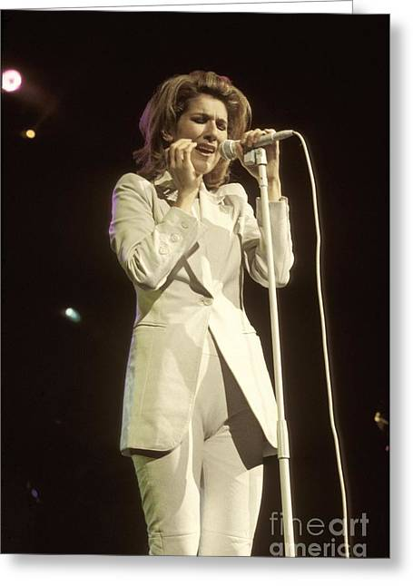 Celine Dion Greeting Cards - Celine Dion Greeting Card by Front Row  Photographs