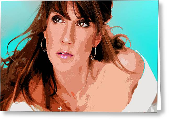 Celine Dion Greeting Cards - Celine Dion Greeting Card by John Keaton