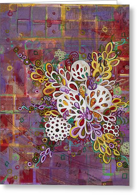 Microscopic Art Greeting Cards - Cell No.16 Greeting Card by Angela Canada-Hopkins