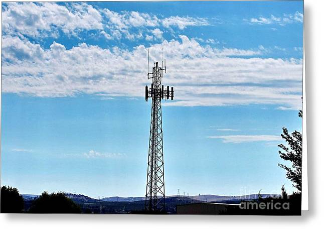 Recently Sold -  - My Ocean Greeting Cards - Cell Tower Greeting Card by   FLJohnson Photography