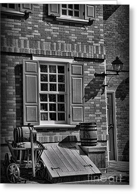 Basement Greeting Cards - Cellar Door in Boston Greeting Card by Lee Dos Santos