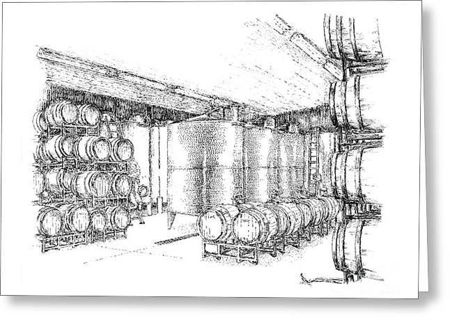 Steve Knapp Greeting Cards - Cellars of Marynissen Winery Greeting Card by Steve Knapp