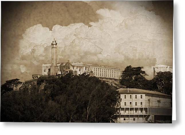 Alcatraz Lighthouse Greeting Cards - Cellblock Greeting Card by Dale Simmons