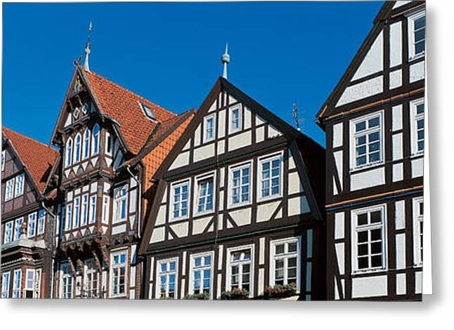 Tile Roof Greeting Cards - Celle Niedersachsen Germany Greeting Card by Panoramic Images