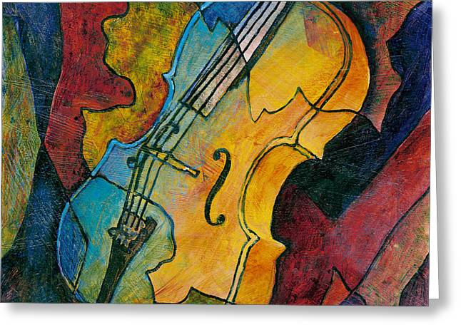 Cello Greeting Cards - Cello Babe Greeting Card by Susanne Clark