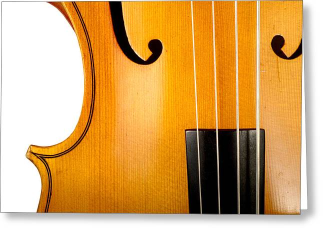 White Chopin Greeting Cards - Cello Greeting Card by Chevy Fleet