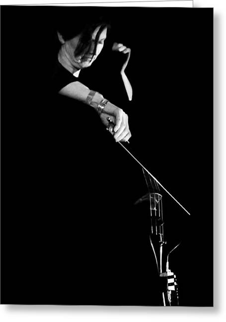 Candid Portraits Greeting Cards - Cello Greeting Card by Diana Angstadt