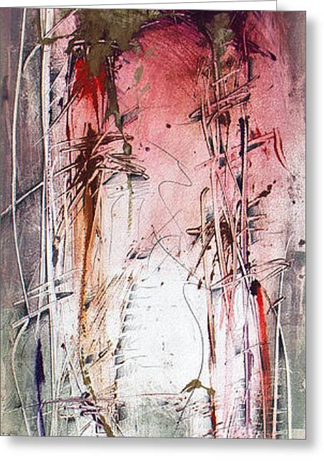 Abstract Expressionist Greeting Cards - Cello Greeting Card by Jeannette Debonne