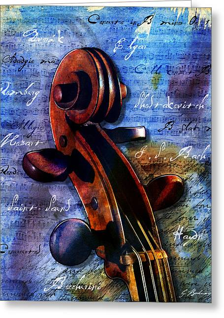 Mozart Greeting Cards - Cello Masters Greeting Card by Gary Bodnar