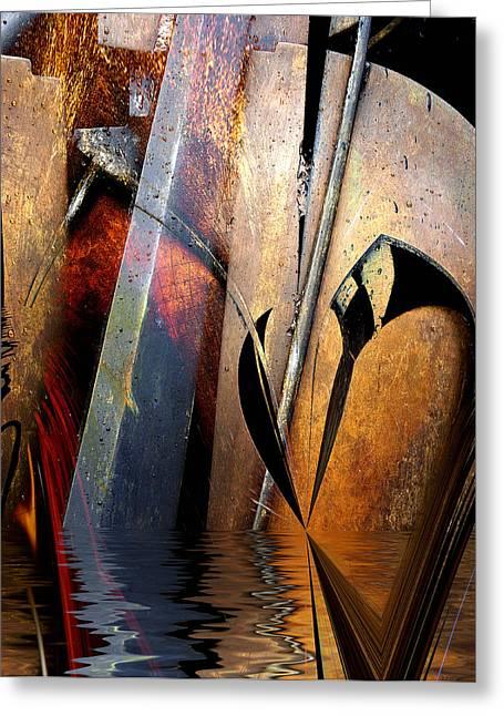 Richard Smukler Greeting Cards - Cello Waltz Greeting Card by Richard Smukler